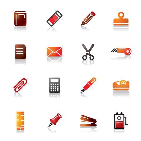 grapadora: Iconos coloridos estacionarias