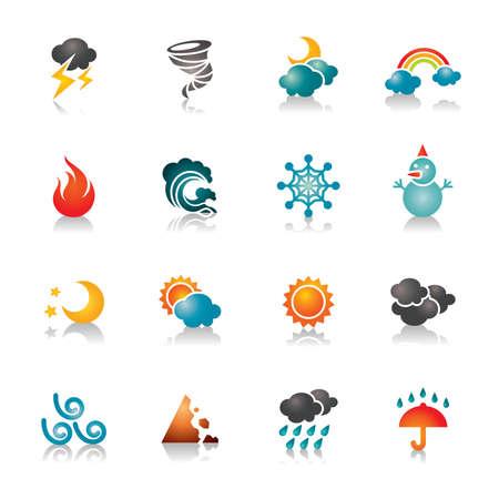 Weather Colorful Icons Zdjęcie Seryjne - 32359678