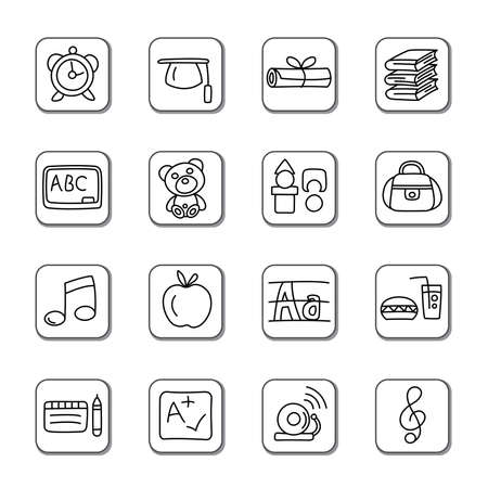 Education Doodle Icons Vector