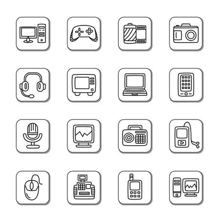 walkman: Digital Products Doodle Icons