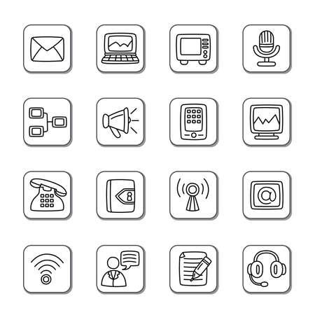 communication icons: Communication Doodle Icons