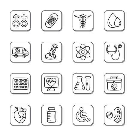 earpiece: Medical Doodle Icons Illustration