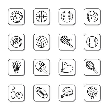 Sport Doodle Icons Vector