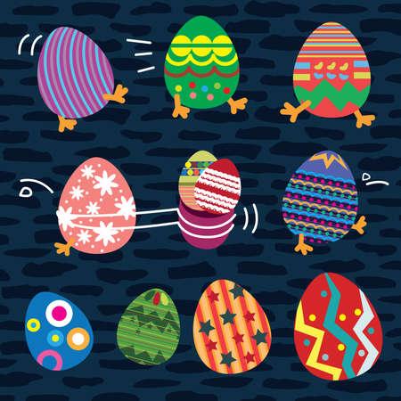 horizon over land: Easter Eggs