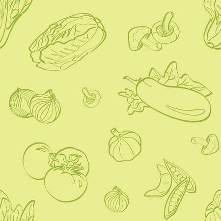 Vegetables Seamless Background Vector