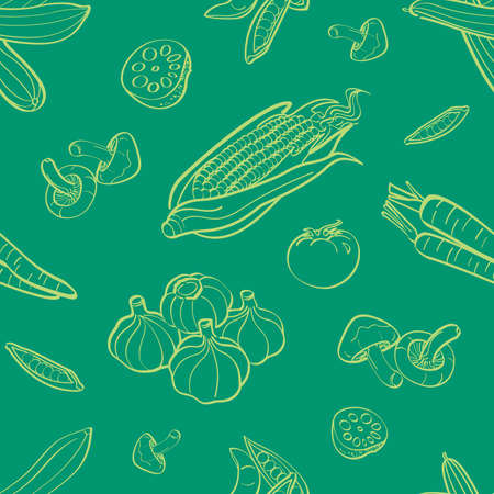 agriculture wallpaper: Vegetables Seamless Background