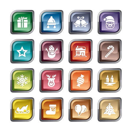 Christmas Element Icons Ilustracja