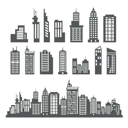 art of building: Building Collection Illustration