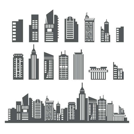 financial district: Building Collection Illustration