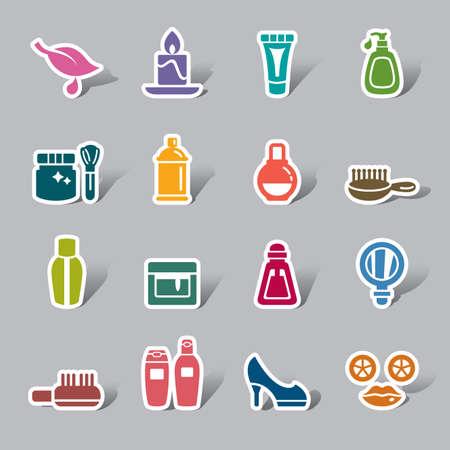 productos de aseo: Belleza y Cosméticos Icono de etiquetas de color