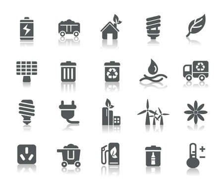 Environmental Protection Icons Vector