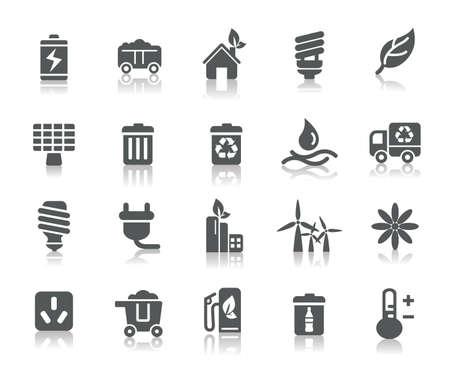 ahorro energia: Iconos de la protecci�n del medio ambiente