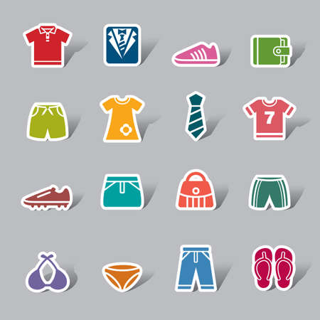 clothing label: Clothing and Accessories Color Icon Label
