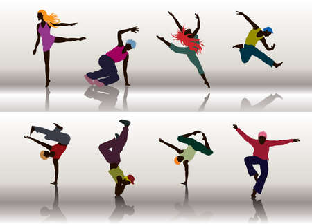 moves: Dancing Group Illustration