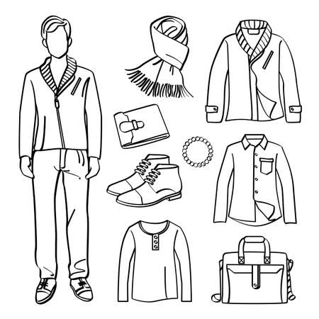 Fashion Man with Clothing and Accessories Zdjęcie Seryjne - 33303494