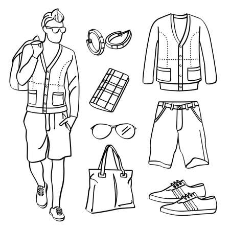 Fashion Man with Clothing and Accessories Zdjęcie Seryjne - 33302083