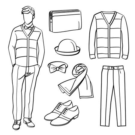 white pants: Fashion Man with Clothing and Accessories