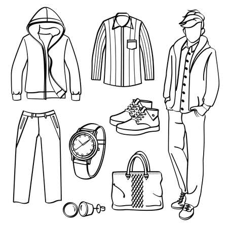 black pants: Fashion Man with Clothing and Accessories