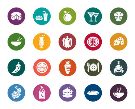 oranges: Food and Drinks Color Icons