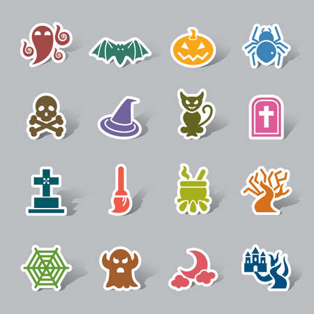 hallow: Halloween Element Color Icon Label