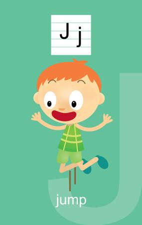 verb: Character J Cartoons Illustration
