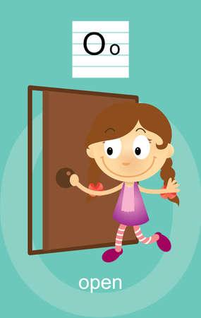 verb: Character O Cartoons Illustration