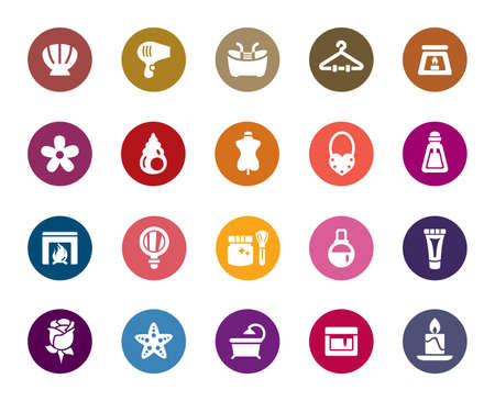 Beauty and Cosmetic Color Icons Vector