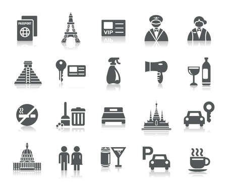Hotel and Tourism Icons Vector