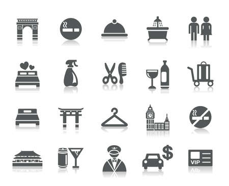 Hotel and Tourism Icons Ilustracja