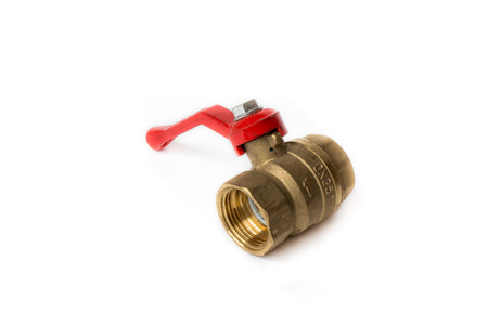Ball valve on white background 스톡 콘텐츠