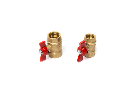 Ball valves isolated on white background. Object