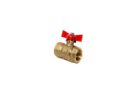 Ball valve isolated on white background. Object