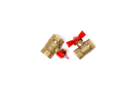 Two ball valves isolated on white background. Object