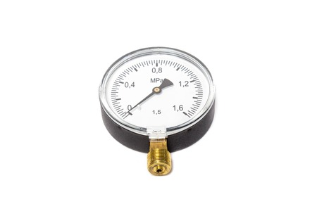 Manometer isolated on white background. Object