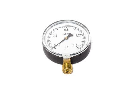 Manometer isolated on white background. Object