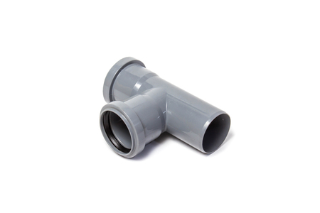 Plastic pipes isolated on white background. object
