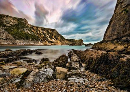 dorset: Man  O  War Bay, Dorset Stock Photo