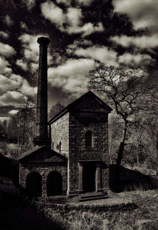 beam pump: Leawood Pumphouse on the Cromford Canal in Derbyshire Stock Photo