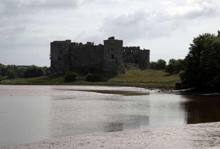 pembrokeshire: Carew Castle near Tenby on the Pembrokeshire Coast Editorial