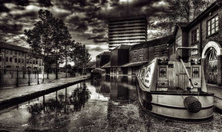 midlands: Coventry Canal Basin  in the City Centre Editorial