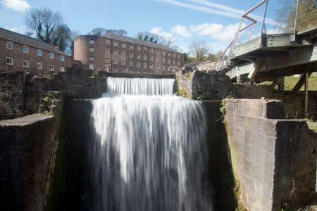 weavers: Cromford Mill in the Country of Derbyshire, England Stock Photo
