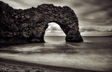 durdle door: Durdle Door on the Jurasic Coast in Dorset, England Stock Photo
