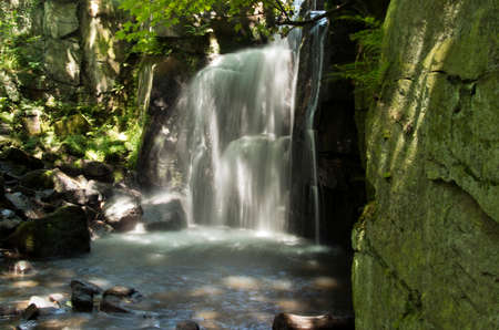 dales: Lumsdale Valley Waterfall in the Derbyshire Dales