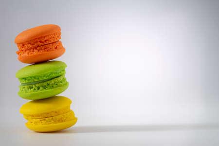 Close up of macarons on white background Reklamní fotografie