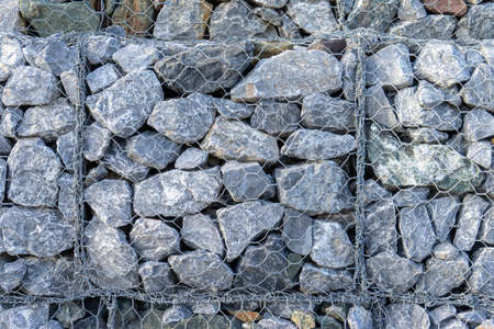 Texture of gabion fences, wire mesh fence Reklamní fotografie