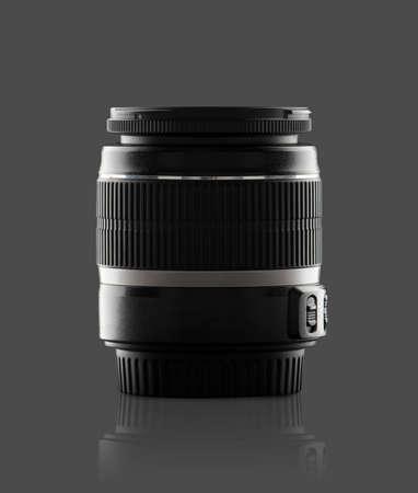 Black lens of a reflex camera