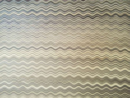 Background or texture of a rippled abstract distortion on a stack of papers. The various shades of paper colors make beautiful patterns.