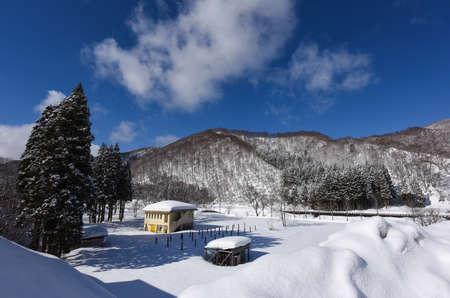 Japans winter blue sky 스톡 콘텐츠