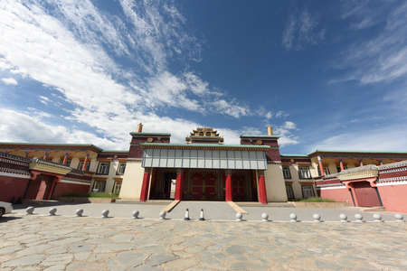The gates of magnificent Tibetan Buddhist temples