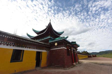 The walls of Tibetan Buddhist monasteries